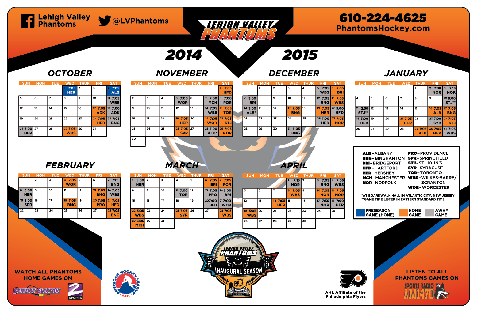 free magnet schedules for all fans this saturday lehigh valley