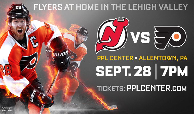 NHL Flyers vs. Devils at PPL Center September 28th - Tickets Available Now!