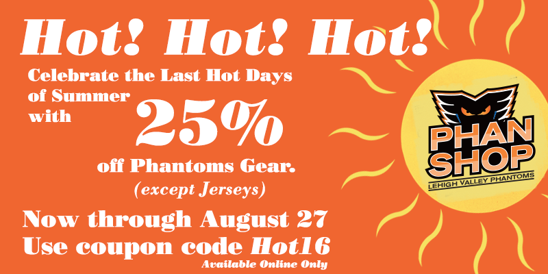 Celebrate the Last Hot Days of Summer with 25% Off Phantoms Gear Online!