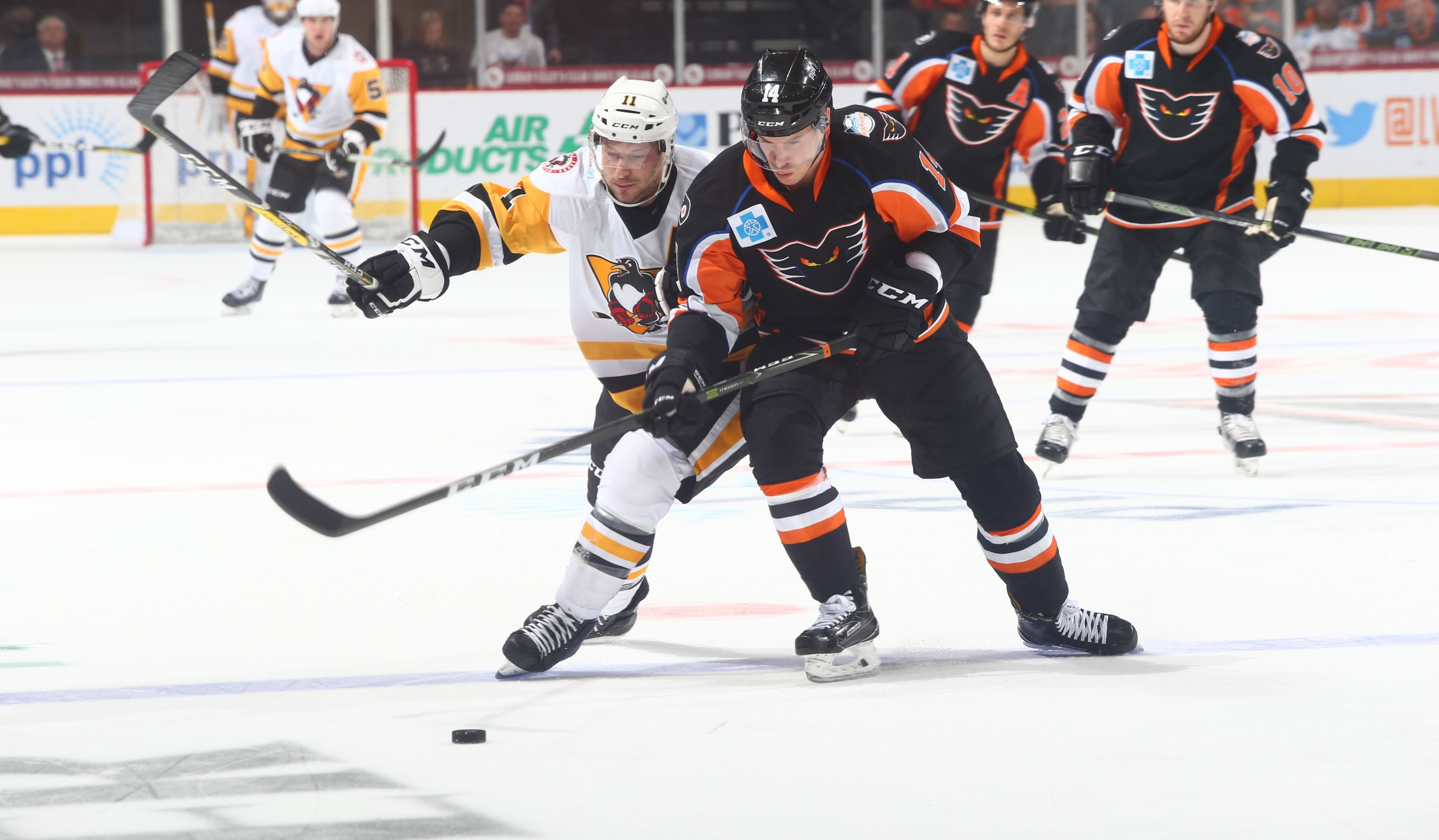 Playoff Atmosphere at Sold-Out PPL Center for Phantoms/Penguins Rivalry