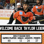 Taylor Leier Re-Signs