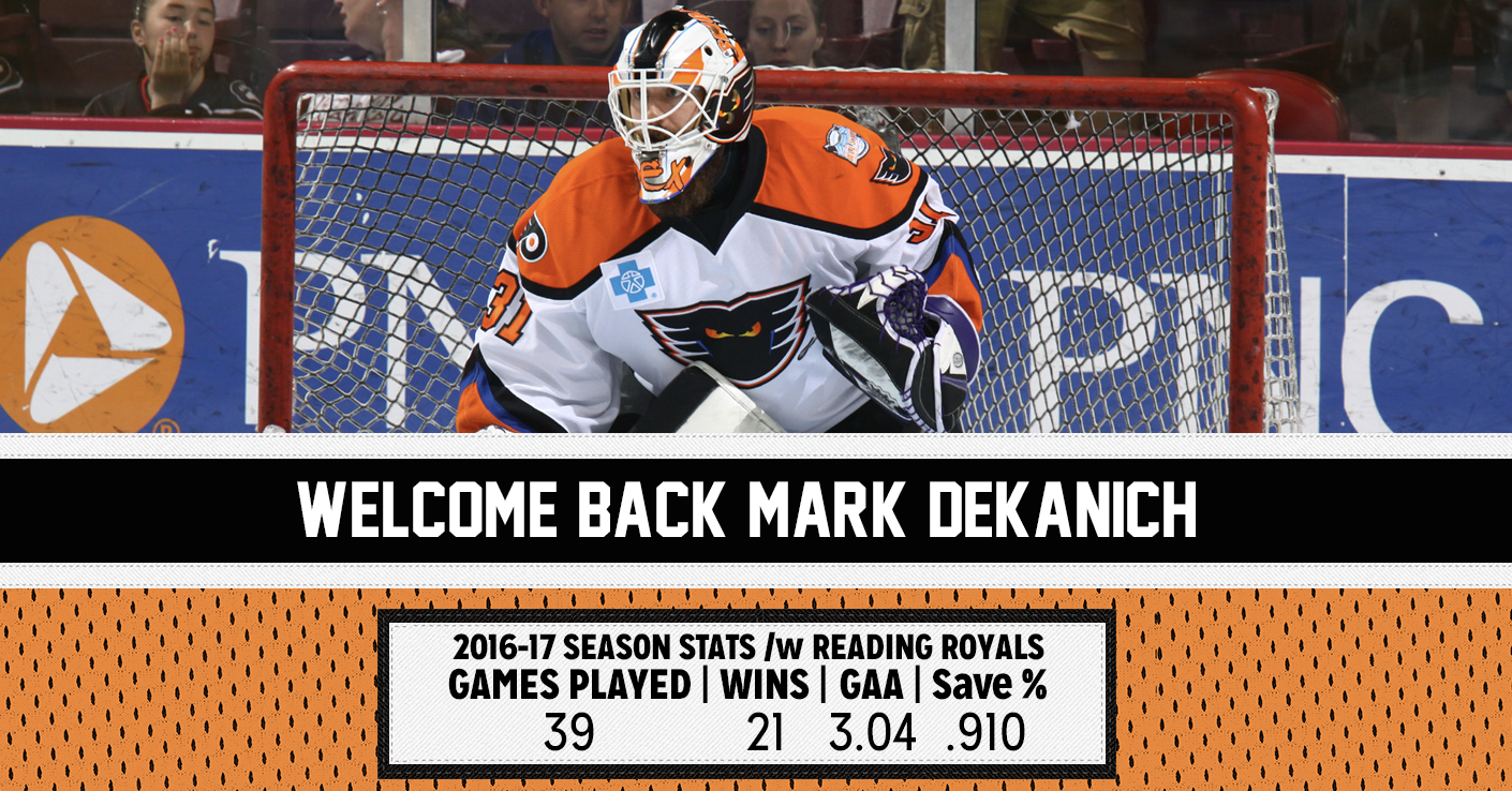 Phantoms Sign G Mark Dekanich to AHL Contract