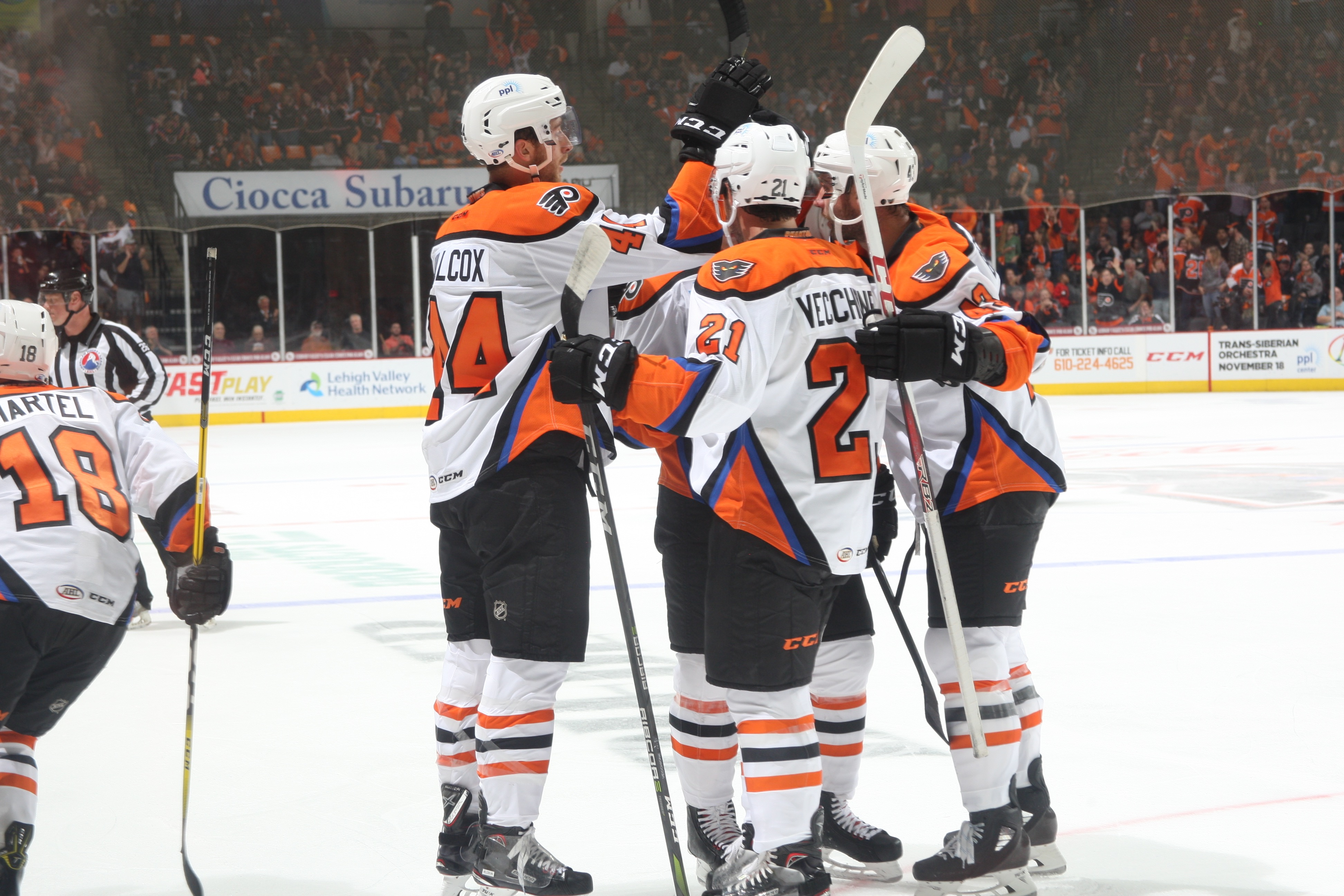 f7f1037e740a2a Martel's Hat Trick Powers Phantoms Opening Night Win - Lehigh Valley ...