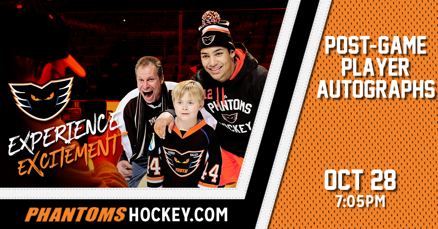 Post-Game Autograph Session! Saturday, October 28 vs. Hartford @ PPL Center