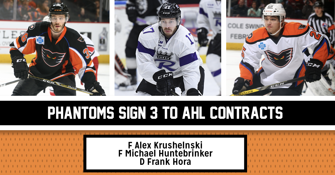 Phantoms Sign 3 to AHL Contracts, F Alex Krushelnyski Re-Signs