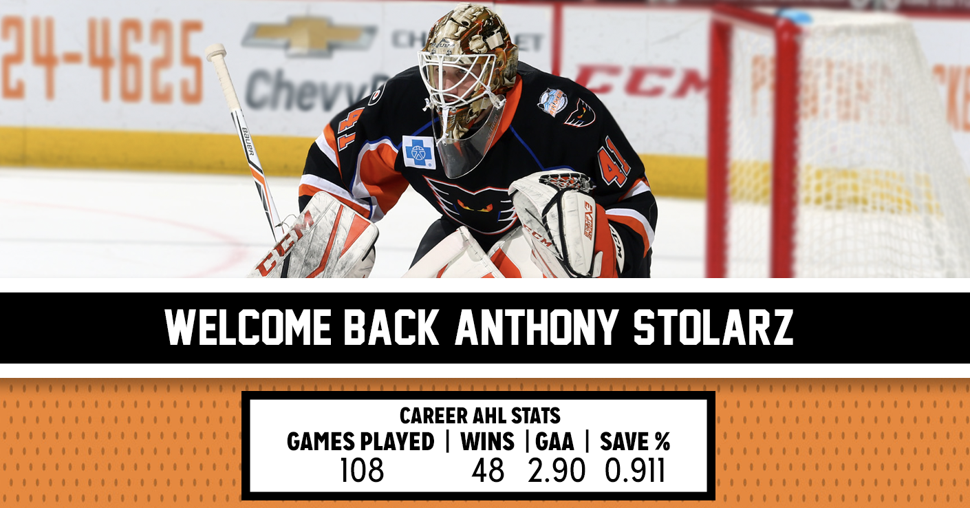 Flyers Re-Sign Stolarz to One-Year Deal