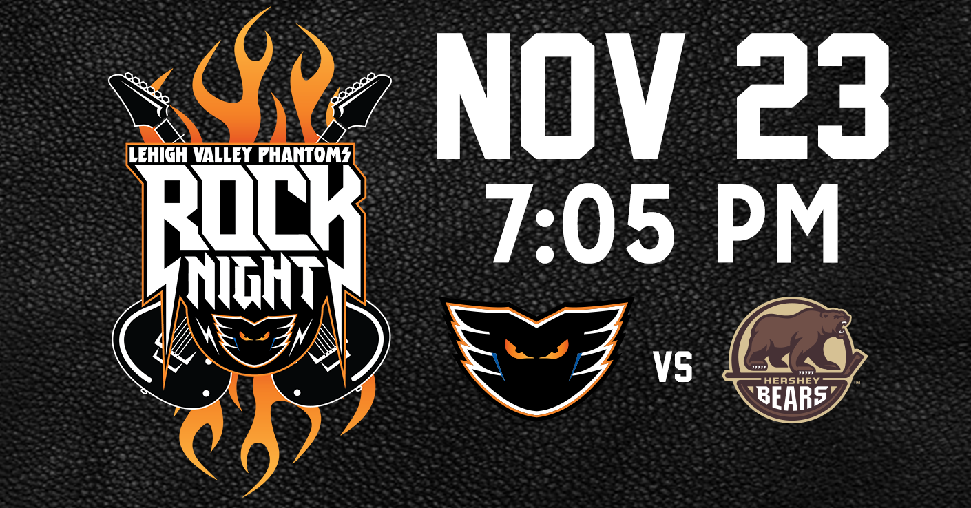 Rock Night, November 23 vs. Hershey Bears @ PPL Center