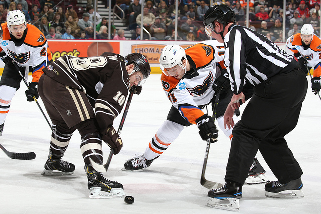 Phantoms Comeback Late But Hershey Wins in Shootout