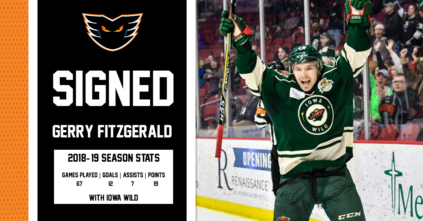 Phantoms Sign Fitzgerald and Knodel to AHL Contracts