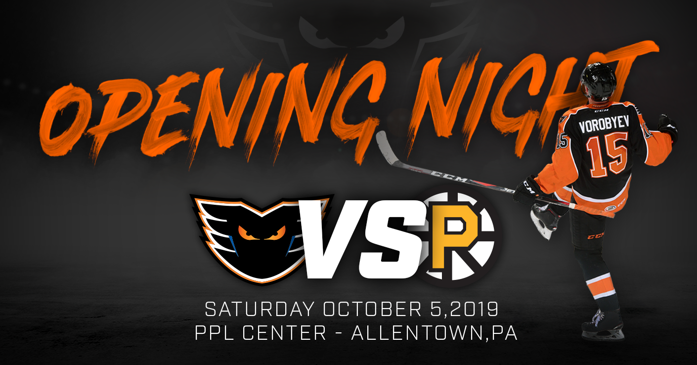 Phantoms Host Bruins in 2019-20 Home Opener