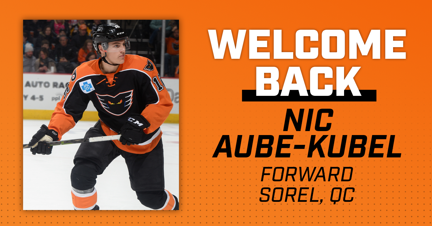 Flyers Sign Nicolas Aube-Kubel to Contract Extension