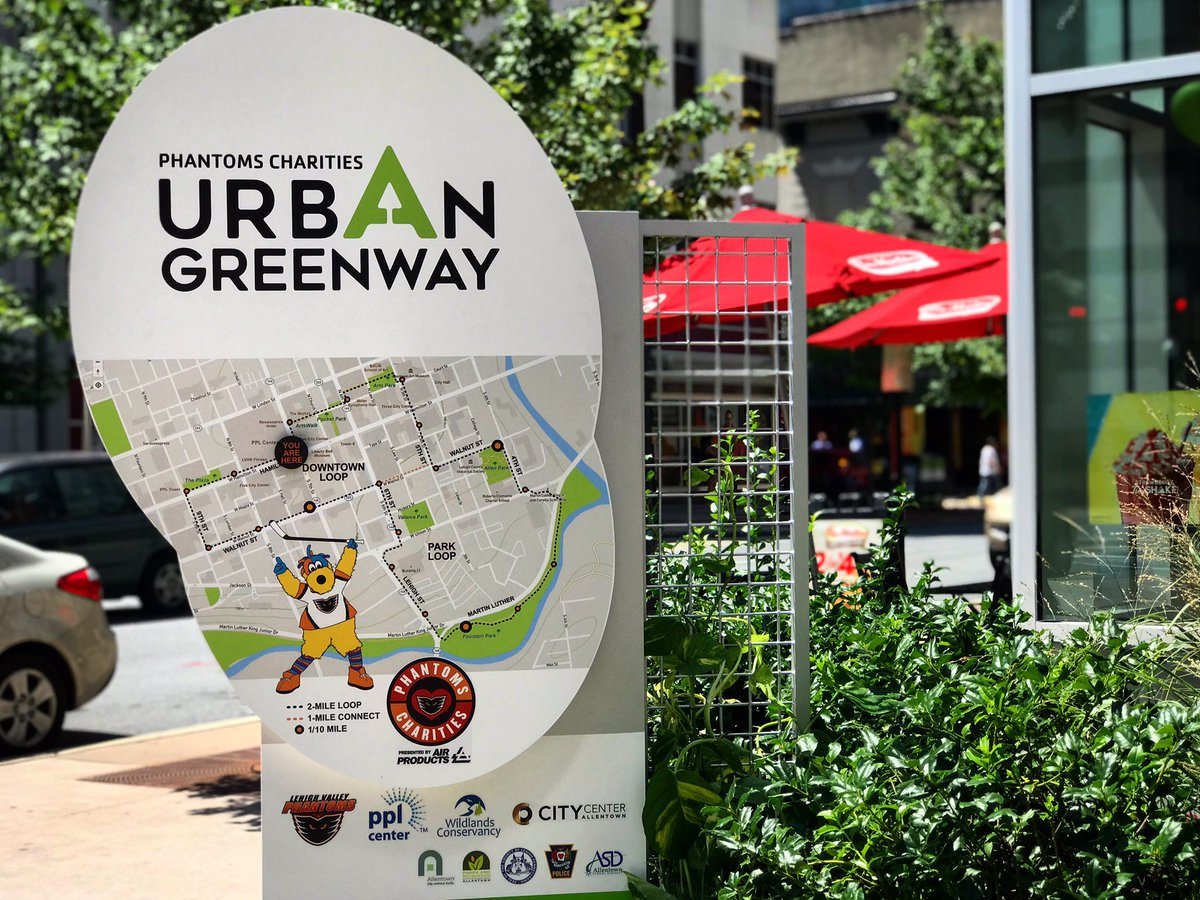 Phantoms Charities Opens Urban Greenway