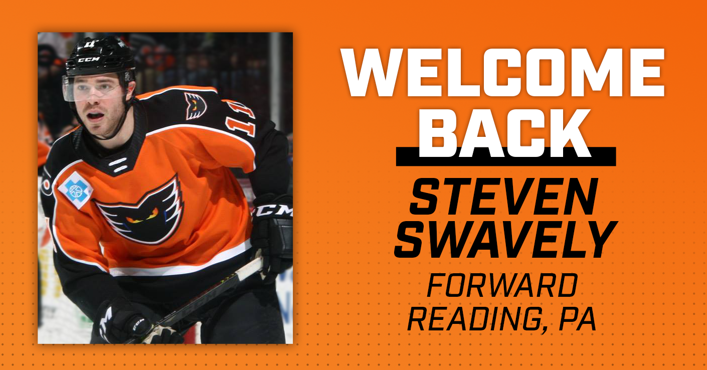 Phantoms Re-Sign F Steven Swavely to AHL Contract