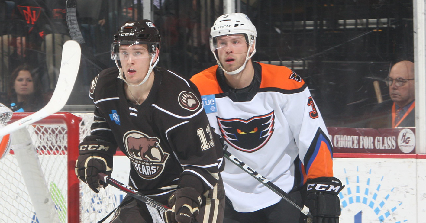 Welinski Scores in First Half of Home-And Home with Hershey