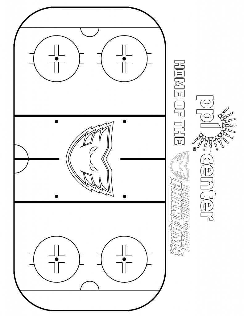 Lehigh Valley Phantoms Ice Rink Coloring Sheet