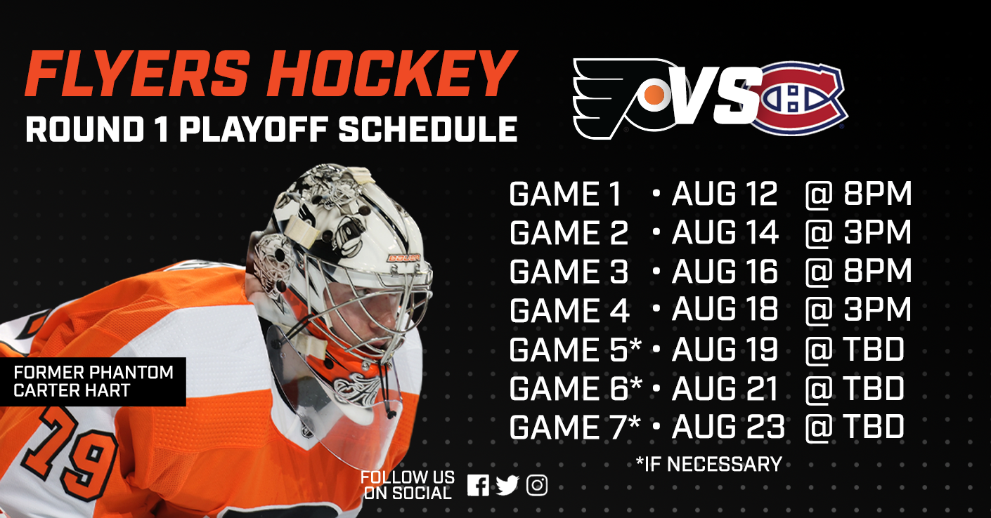 Flyers Begin Round 1 Against Canadiens Tonight